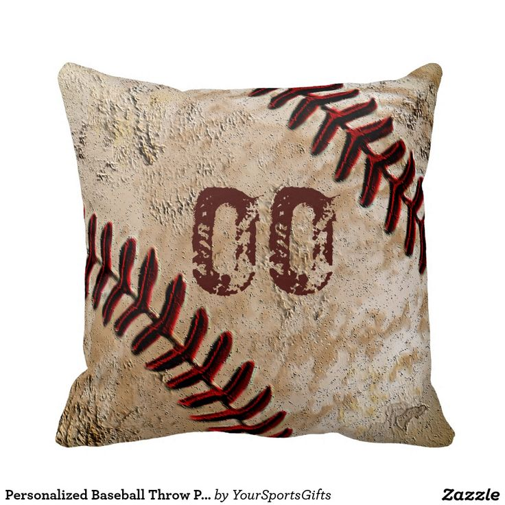 They will love their own Personalized Baseball Throw Pillows with JERSEY NUMBER.  http://www.zazzle.com/personalized_baseball_throw_pillows_jersey_number-189630790144439313?rf=238012603407381242 Personalized Baseball Throw Pillows and more Vintage Baseball Gift Ideas. CLICK Here: http://www.Zazzle.com/YourSportsGifts   Visit our Website http://YourSportsGifts.com