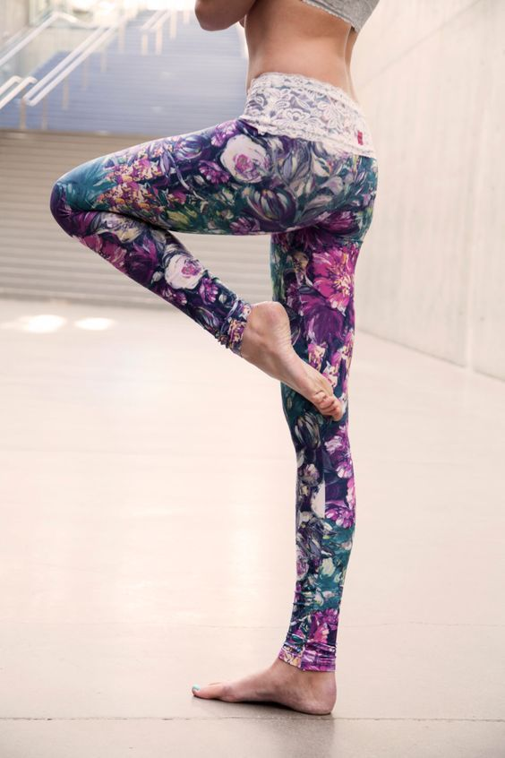 BLOOM lace-waist yoga leggings Women's workout clothes   Fitness Apparel   Gym Clothes   Yoga Pants   Shop @ FitnessApparelExpress.com