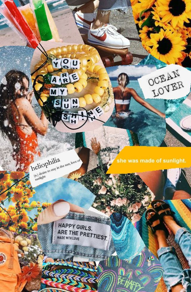 Summer Vibes Collage Background Aesthetic Collage