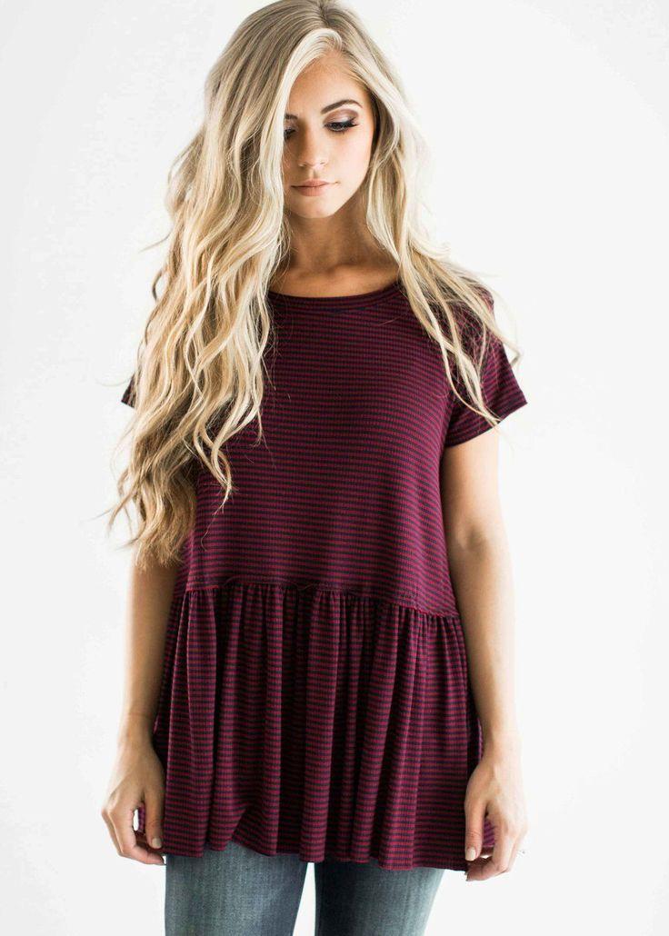 fashion, style, womens fashion, peplum top, striped shirt, jessakae