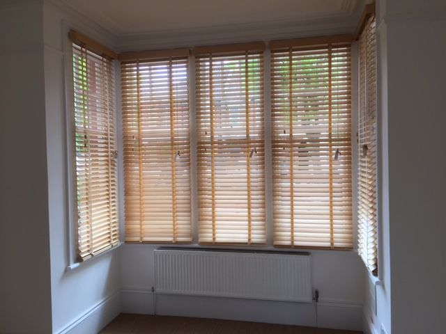 These Wood Venetian Blinds Were Fitted To A Bay Window Of A House In Hove