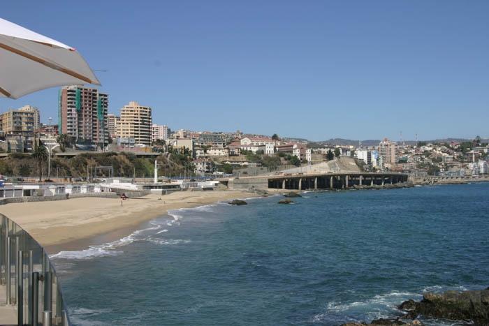 Beach in Vina del Mar, Chile