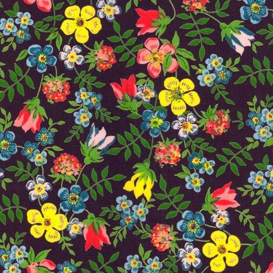 Edenham Navy Liberty Tana Lawn Fabric 14in x 54in