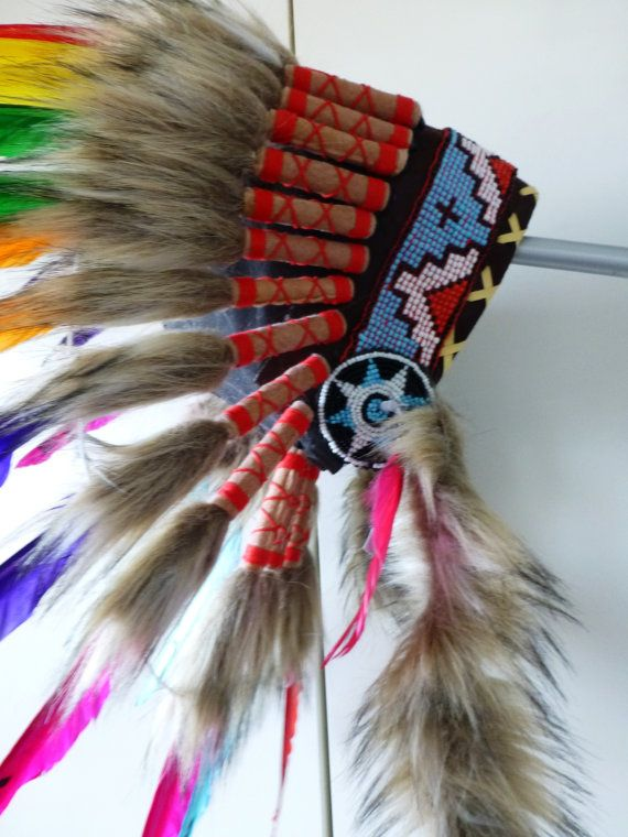For Kid / Children: Rainbow Chief indian by THEWORLDOFFEATHERS