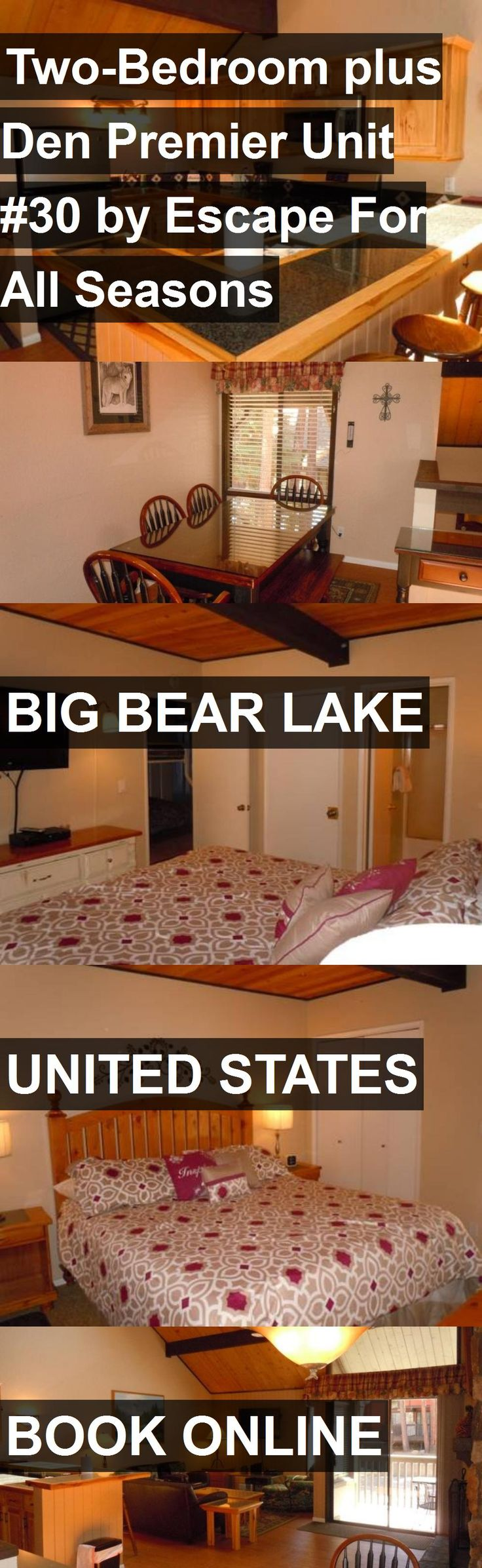 Hotel Two-Bedroom plus Den Premier Unit #30 by Escape For All Seasons in Big Bear Lake, United States. For more information, photos, reviews and best prices please follow the link. #UnitedStates #BigBearLake #travel #vacation #hotel