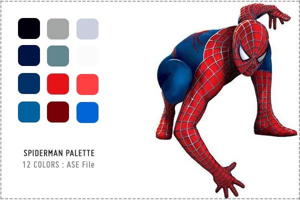 Spiderman Color Palette Boy Room Color Scheme Superhero
