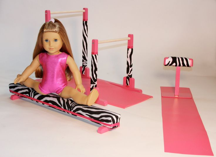 Gymnastics Set - Balance Beam - Uneven Bars for 18 Doll - American Girl Mckenna. $199.00, via Etsy.