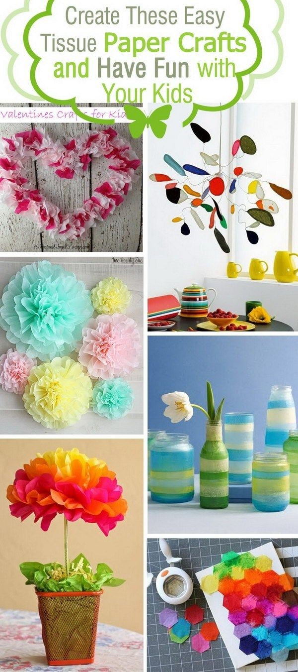 32 Tissue Paper Crafts For Adults Crafttel Com Tissue Paper Crafts Tissue Paper Art Paper Flowers Craft