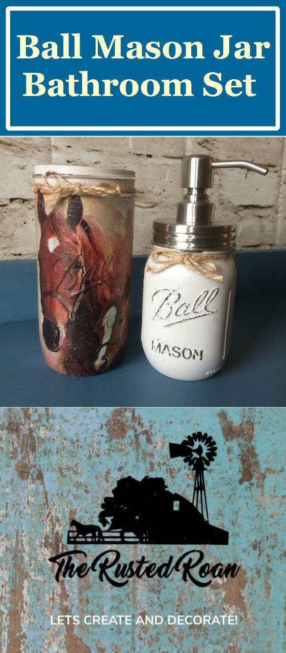 Horse Bathroom Set Horse BathroomMason Jar