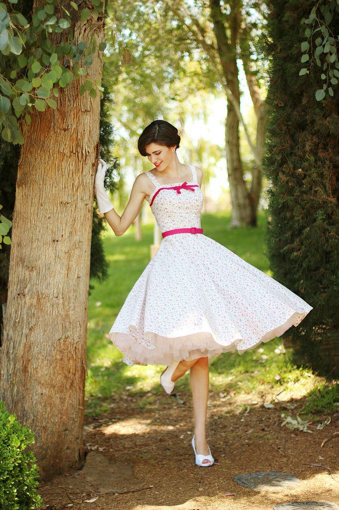 Spring Floral Dress- designed by Alexandra Marie, crafted by Melissa Mason