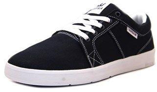 Supra Ineto Men Round Toe Canvas Black Skate Shoe.