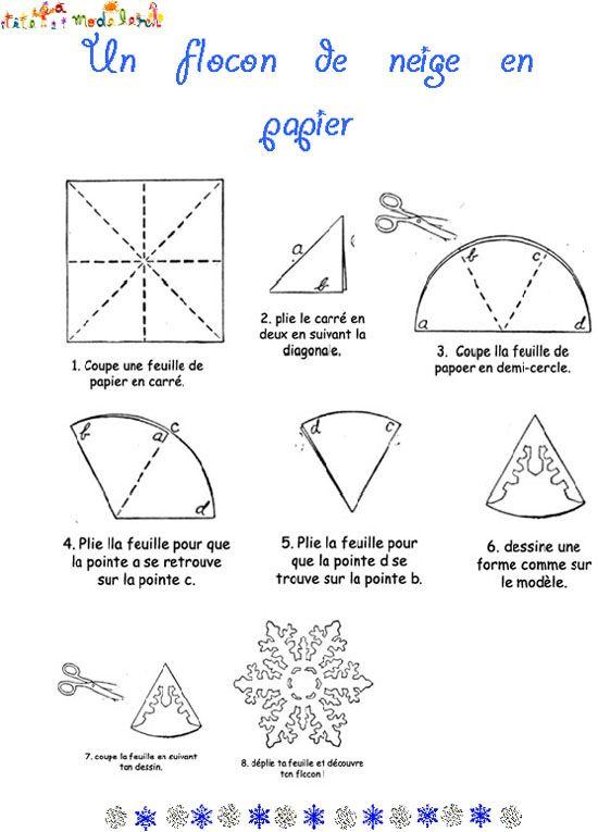 origami facile flocon de neige