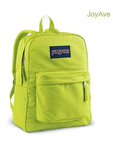 Jansport Backpack Superbreak Alien Green for School Work or Play by JoyAve. Save 39 Off!. $27.59. 100% Authentic guaranteed.  New with tags Head out the door with everything you need in the JanSport® Superbreak Backpack. It features straight-cut, padded shoulder straps and a padded back panel for added comfort when you are carrying your belongings. The one large main compartment makes packing and unpacking easy and simple.     Product Details  * Straight-cut, padded shoulder...