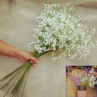 Description: 100% Brand new and high quality Artificial Fake Silk Gypsophila Flower Home Wedding De