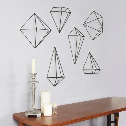 Umbra 3D-Wanddeko Prisma Wall Decor 3er-Set schwarz   design3000.de