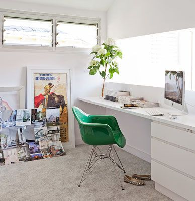 A semi-detached cottage in Sydney's Eastern Suburbs is given a crisp & contemporary makeover in Real Livings 2013 April issue.Small Offices, Work Spaces, Interiors Design, Work Zone, Workspaces, Blog, Bondi