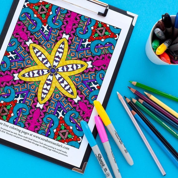 free abstract floral pattern coloring page for adults   Find more free adult coloring pages at www.sarahrenaeclark.com