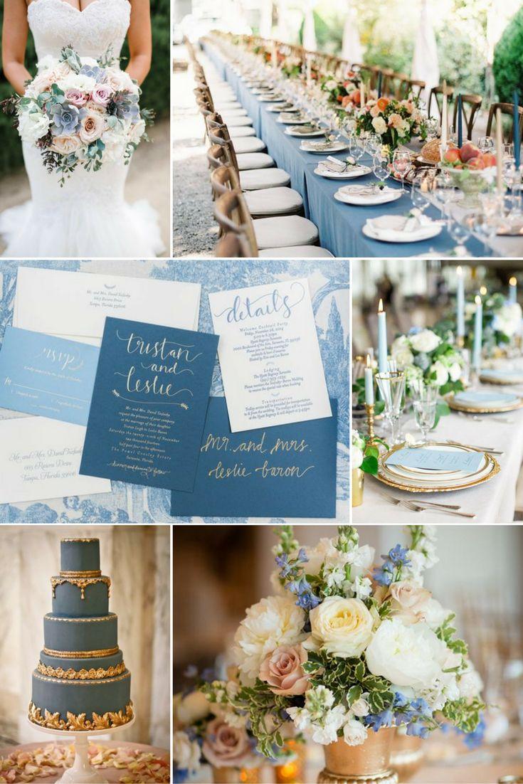 Franciakék, arany és púderrózsaszín | Esküvői színek 2017 - 15 trendi színkombinációt mutatunk a tökéletes esküvői dekorációhoz. Inspirálódj velünk!