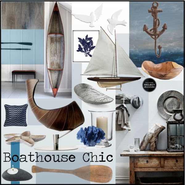 Boathouse Chic by szaboesz on Polyvore featuring interior, interiors, interior design, home, home decor, interior decorating, Michael Aram, Zara Home, Soicher Marin and Simon Pearce