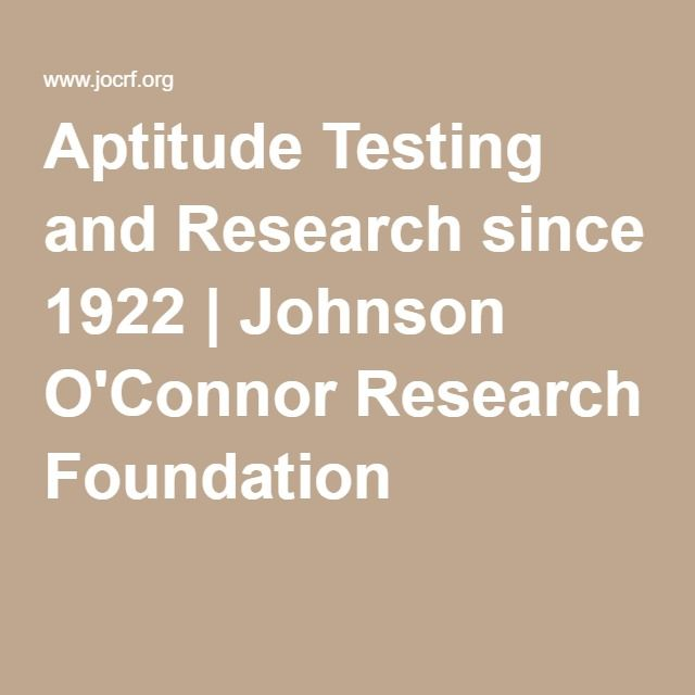 Career Counseling In The DTCu003eu003eu003eAptitude Testing And Research Since 1922 |  Johnson  Free Career Aptitude Test