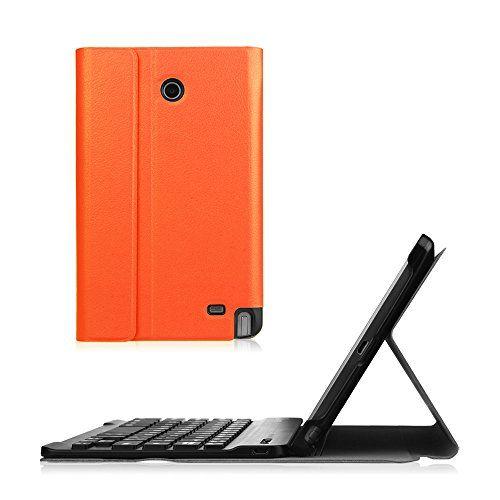 Fintie LG G Pad F 8.0/G Pad II 8.0 Keyboard Case - Ultra Slim Cover Magnetically Detachable Wireless Bluetooth Keyboard for [AT&T V495/T-Mobile V496/US Cellular UK495/G Pad 2 8.0 V498] Tablet, Orange