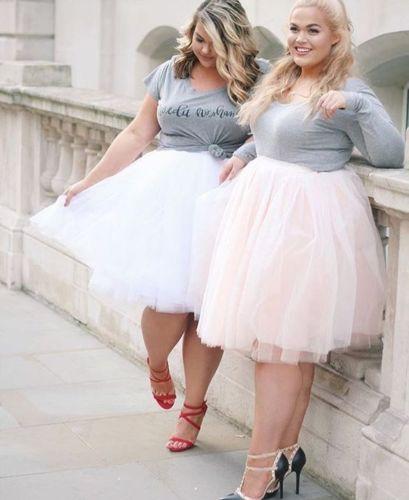 Plus-Size-Girls-Summer-Dresses-Knee-Length-Tulle-Skirt-Dance-Wear-Adult-TUTU