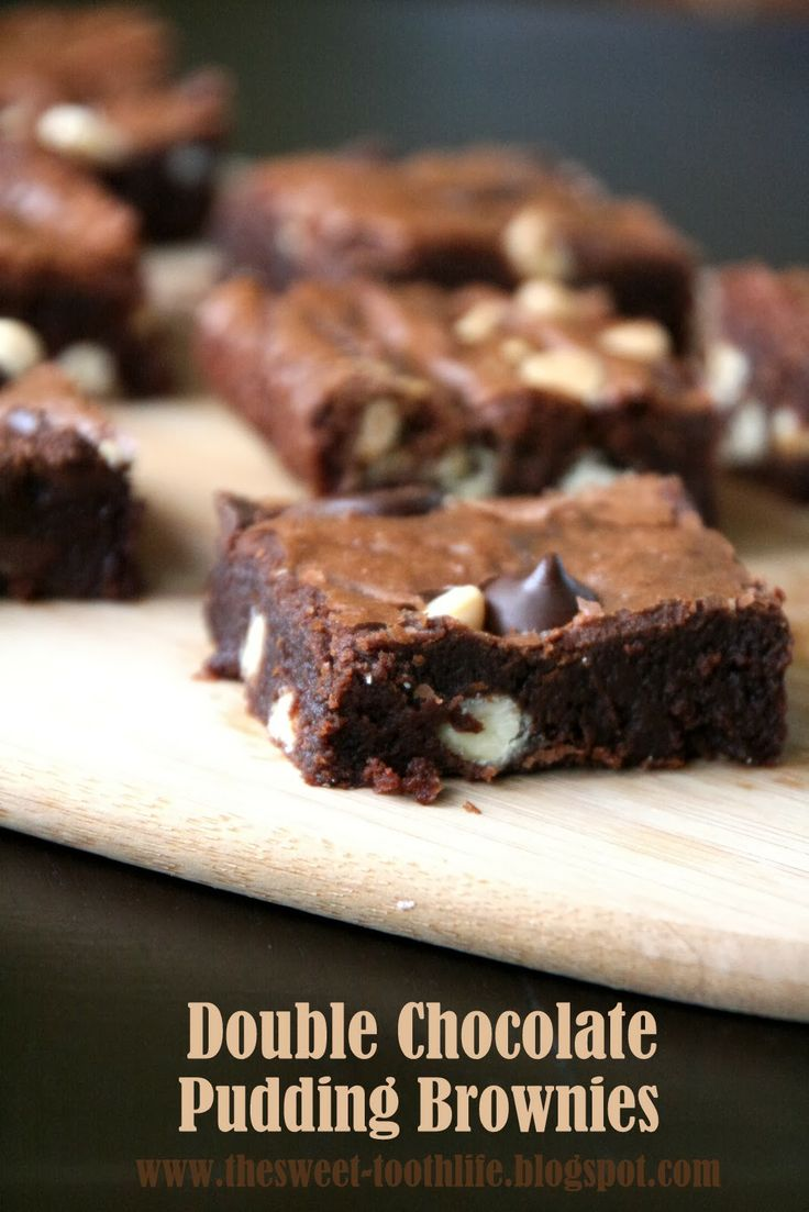 Double Chocolate Pudding Brownies. Fudgiest ever - thanks to a secret ingredient!