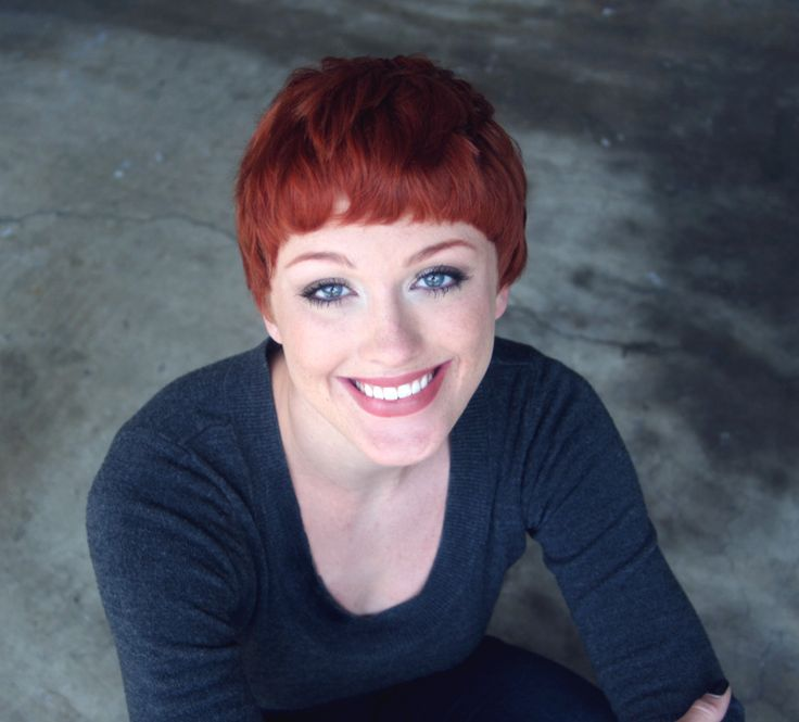 Virginia Petrucci, actress, model, redhead, red hair, pixie, pixie cut, short hair, smile | Hair ...