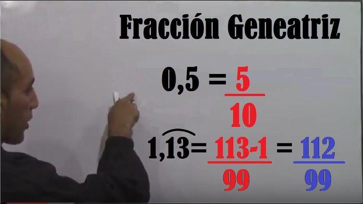 Fracción Generatriz. Explicación Completa. Decimal limitado, periódico p...