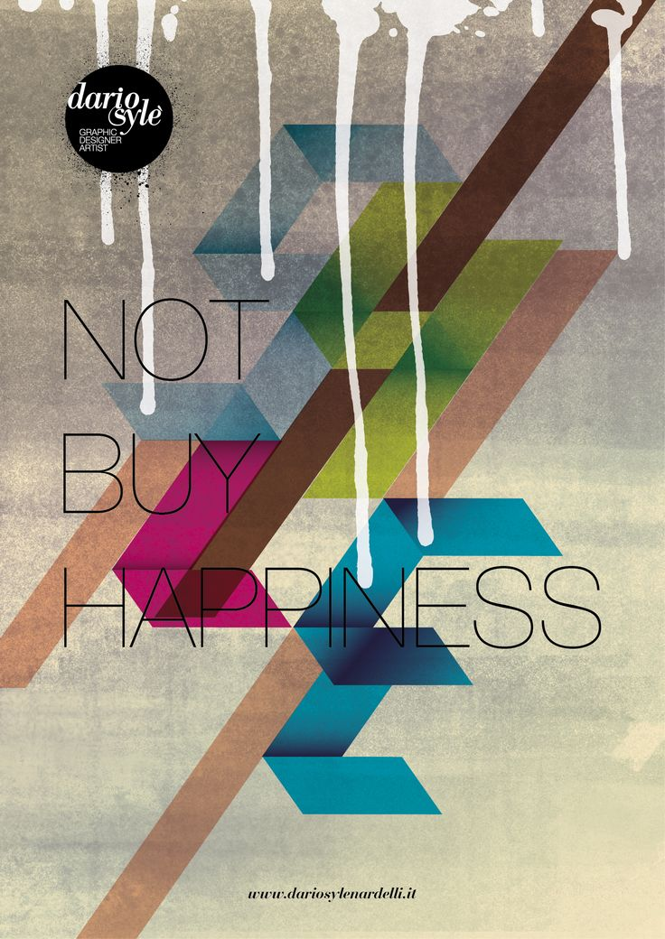 NOT BUY HAPPYNESS personal poster
