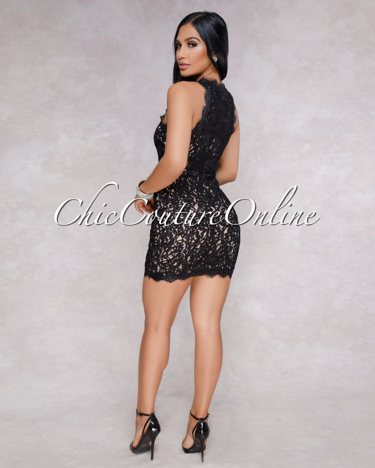 Chic Couture Online - Rivera Black Nude Illusion Crochet Mini Dress,  (http://www.chiccoutureonline.com/rivera-black-nude-illusion-crochet-mini-dress/)