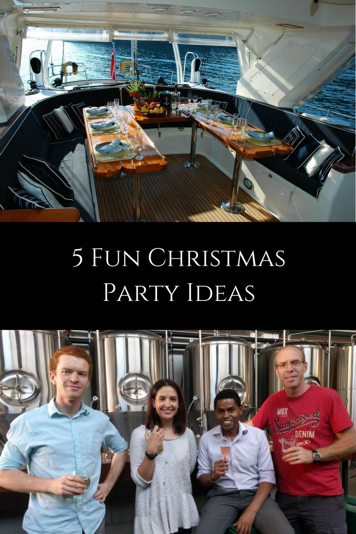 If eating, drinking and having a good time is high on the agenda for your Christmas party, something like a private boat cruise screams fun!  Usually, these come with set food and drink packages, which you can choose based on your budget, length of desired time and even group size.  http://www.delectabletours.com.au/fun-christmas-party-ideas/