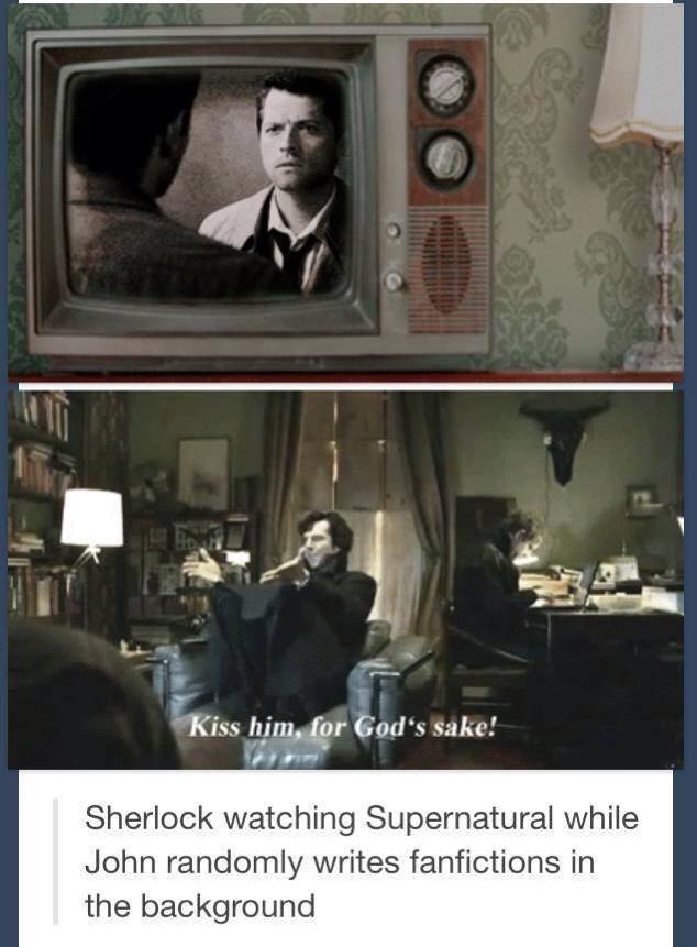 Even Sherlock and John ship it <--- Everyone ships it.