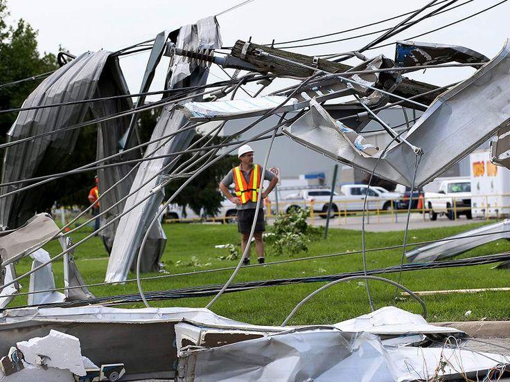 Windsor Tornado: Pictures Of Damage On Deziel, Kautex Drives