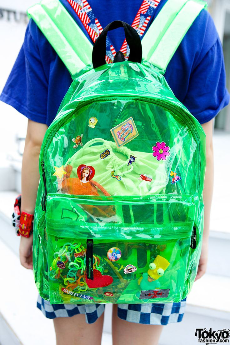 Clear Backpack Twintails Rainbow Platforms  Toy Car Bracelet in   School things