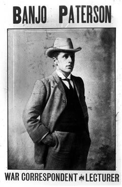 Banjo Paterson, Australian writer and poet.