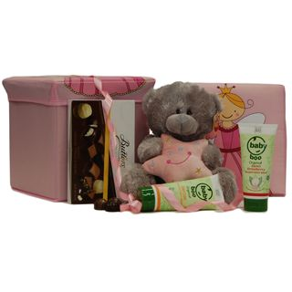This practical and beautiful gift will really help the parents care for their new arrival. This Baby Gift Basket is presented in a fully washable fairy foldable storage box that can also be used as a Chair!