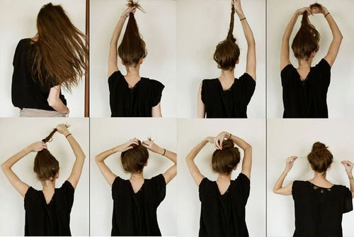 : Hair Tutorials, Messy Hair, Long Hair, Buns Tutorials, Longhair, Messy Buns, Hair Style, Hair Buns, Tops Knot