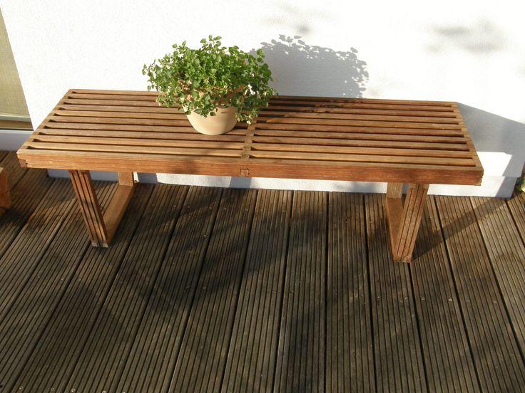George Nelson   Platform Bench   Reclaimed Bangkirai Wood  Https://www.facebook