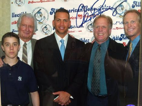 TBT: 3 Generations of Thimmel's hanging with Alex Rodriquez at the Marriott Marquis in NYC.  This photo was taken 12 years ago when A-Rod came to the Yankees. I did a VIP Charity-Fundraiser with Alex for his 1st Appearance as a NY Yankee.