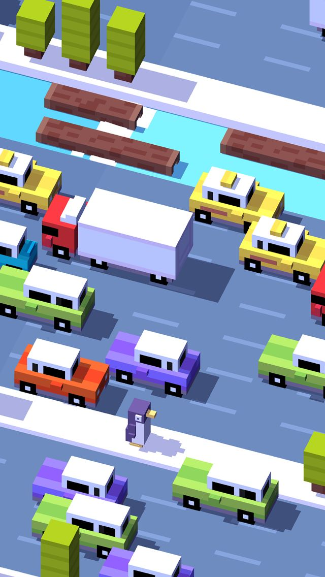 Crossy Road - the lovable, maddening game that will make you smash your iPhone and then immediately regret it.