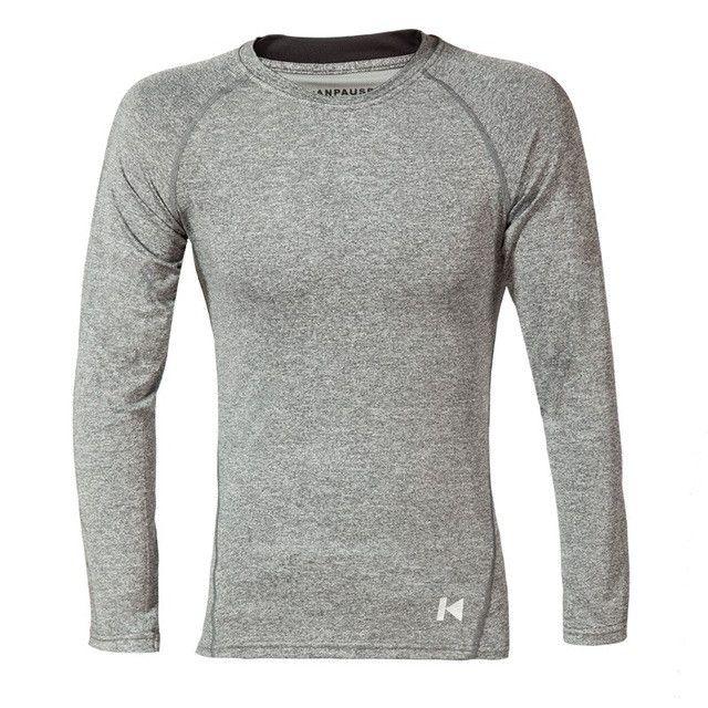 New Arrival Men's Tight Long Sleeve Training T-shirt Running T-shirt Fitness Sportswear