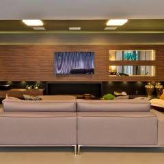 Salas multimedia de estilo moderno por Espaço do Traço arquitetura