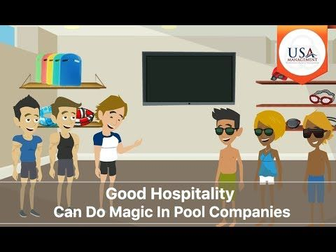 Good Hospitality Can Do Magic In Pool Companies  Hospitality 101 comes with a simple hospitality rule, the 10-5 attitude. Understanding the 10-5 attitude and how it is enforced is important for your aquatic position. This video gives a better understanding of hospitality 101.