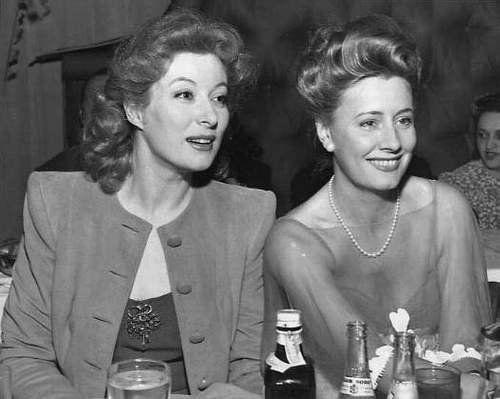 Greer Garson (1904-1996) and Irene Dunne (1898-1990)