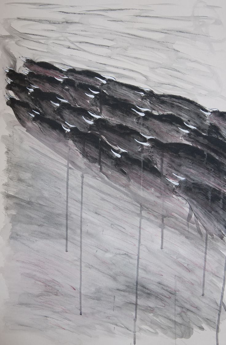 Luca Serasini  Solo per volar tempesta acrilico e carboncino su carta cm 70x50 www.livinart.it