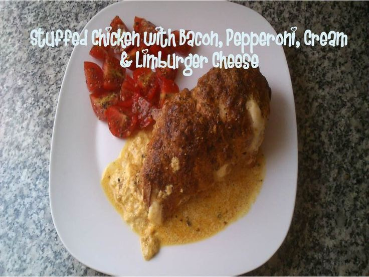 Amazing Stuffed Chicken with Bacon, Pepperoni, Cream & Limburger Cheese recipe #RecipeOfTheDay #Chicken  #Recipes Check more at https://epicchickenrecipes.com/stuffed-chicken-breast-recipes/stuffed-chicken-with-bacon-pepperoni-cream-limburger-cheese-recipe-recipeoftheday-chicken-recipes/