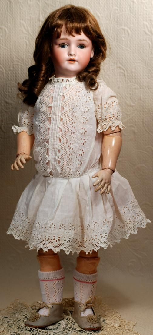 Large antique doll by German firm of Handwerck with Simon & Halbig bisque head.
