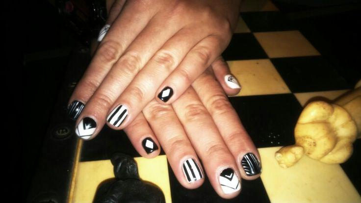 Black&White  nails #chess #black #white #nails