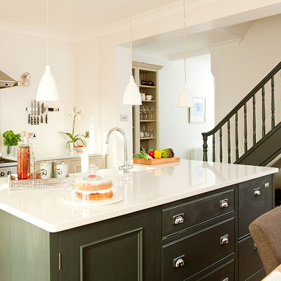 Kitchen Cabinets Island Shelves Cabinetry White Walnut Stone Modern Traditional Rustic Farmhouse: Grey Cabinets, Grey Fitted Cabinets And Countertops